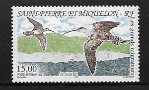 ST PIERRE & MIQUELON C72 MNH COURLIS, MIGRATORY BIRDS ISSUE
