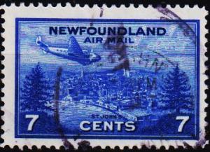 Newfoundland. 1943 7c  S.G.291 Fine Used