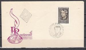 Hungary, Scott cat. 1596. Eleanor Roosevelt issue. First day cover.