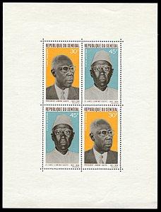 Senegal C71a, MNH, President Lamine Gueye In Memoriam souvenir sheet