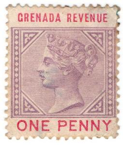 (I.B) Grenada Revenue : Duty Stamp 1d