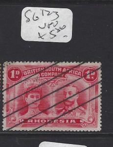 RHODESIA (P0109B) DOUBLE HEAD 1D SG   123 VFU