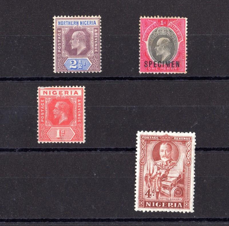 Northern Nigeria KEVII/KGV Set Of 4 MH X7565