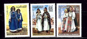 Morocco 220-21 and C15 MNH 1969 set