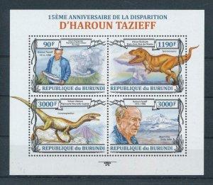 [107109] Burundi 2013 Prehistoric animals dinosaurs Tyrannosaurus Sheet MNH