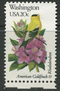 USA - Scott 1999 - State Birds & Flowers - 1982 - MNG - Single 20c Stamp