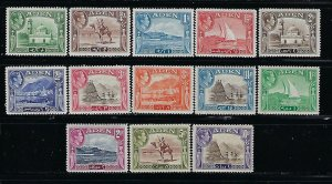 ADEN SCOTT #16-27a  1939-48 GEORGE VI SET MINT NEVER/LIGHT HINGED