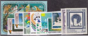 UN GENEVA MNH Scott # 195-208 1991 Annual Year Set no Human Rights (14 Sts)(2)