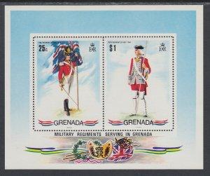 Grenada 433a Military Uniforms Souvenir Sheet MNH VF