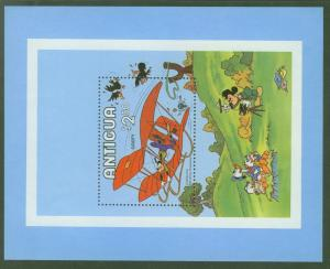 ANTIGUA Scott 571 Goofy in Glider Cartoon Sheet MNH**1980