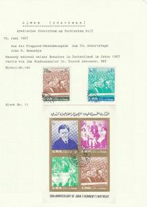 AJMAN STAMPS COLLECTION 1967 / 1969  INCLUDES MINI SHEETS , LOTS OF FOOTBALL