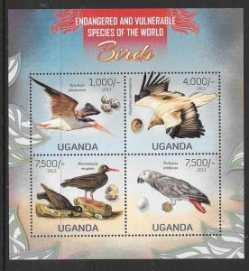 UGANDA 2013 VULNERABLE SPECIES OF THE WORLD (1) M/S MNH