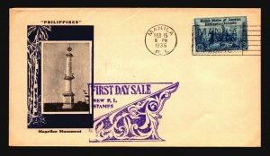Philippines SC# 389 on 1935 Cacheted FDC / Light Creasing - Z16334