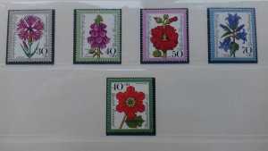 Germany 1974 Charity Stamps - Flowers Mint
