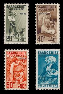 Saar 19275 Sc B5-8 MH Overprint set 1927-1928