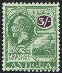 ANTIGUA 1921 KGV BADGE 3/-
