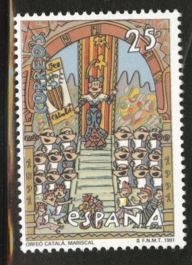 SPAIN Scott 2655 MNH** Catalan Chorus 1991