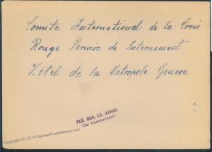 Switzerland WWII Refugee Camp Aarau Commandant Cover 53811