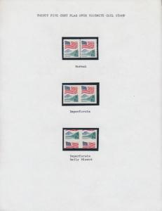 #2280 VAR (7) DIFF ERRORS MOUNTED ON 3 PAGES FLAG OVER YOSEMITE BT2539
