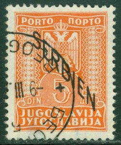 EDW1949SELL : SERBIA 1941 Scott #2NJ6 Very Fine, Used. Nice cancel. Catalog $140