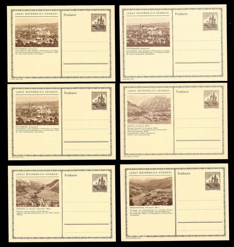 AUSTRIA (120) Scenery View Various Franking Postal Cards c1950s ALL MINT UNUSED