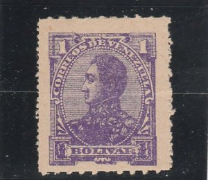 Venezuela  Scott#  95  MH  (1887 Bolivar)