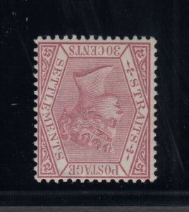 Straits Settlements, SG 69w, MLH Watermark Inverted variety