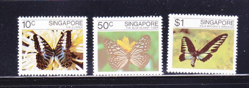 Singapore 387-389 Set MNH Insects, Butterflies (C)
