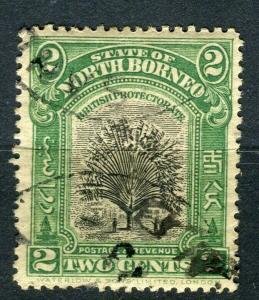NORTH BORNEO; 1909 early Pictorial issue fine used 2c. value + Postal cancel