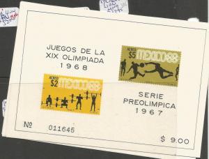 Mexico SC 1967 Olympics 953a-5a, C384a-k MOG (5cqd)
