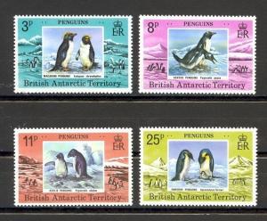 British Antarctic Territory Scott 72-75 Mint NH (Catalog Value $23.50)