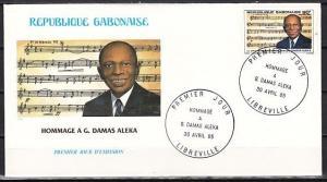 Gabon, Scott cat. 585. Local Composer Damas Aleka. First day cover. ^