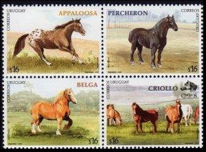 2006 Uruguay 2928-2931VB Horses 8,50 €