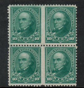 USA #258 Mint Fine - Very Fine Never Hinged Block Variety