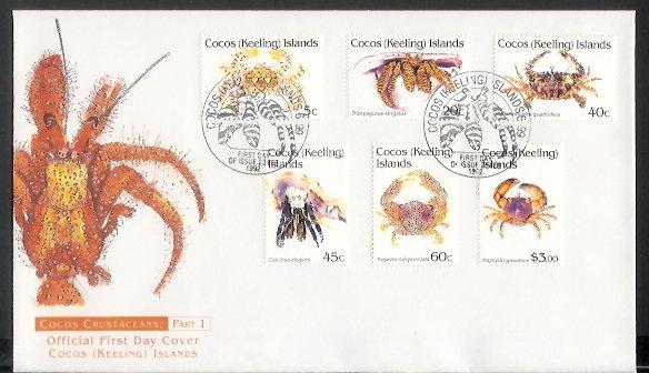 Cocos Is - 1992 Crustaceans (23 Feb) (FDC)