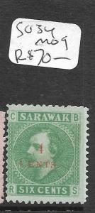 SARAWAK  (PP2803B)  SURCH  4C/6C  SG 34  MOG!!!!