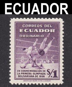 Ecuador Scott 380 F to VF mint OG H.