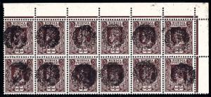 Burma Scott 1N46 Gibbons J19b Block of Stamps
