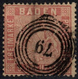 Baden #14 F-VF  Used CV $175.00  (X4062)