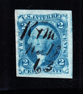 US R7a 2c Certificate Used VF-XF SCV $17.50