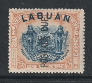 Labuan the 24c Post Due MLH perf 15 SG D9b