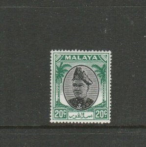 Malaya Selangor 1949/55 20c Black & Green MM SG 101