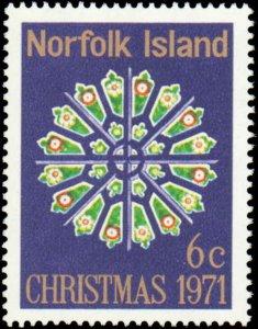 Norfolk Islands #148, Complete Set, 1971, Christmas, Never Hinged