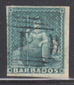 Barbados #2 USED Imperf