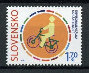 Slovakia Environment Stamps 2020 MNH Climate Change JIS Italy Bicycles 1v Set