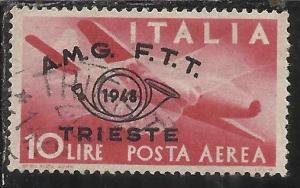 TRIESTE A 1948 AMG - FTT ITALIA ITALY CONVEGNO FILATELICO POSTA AEREA AIRMAIL...