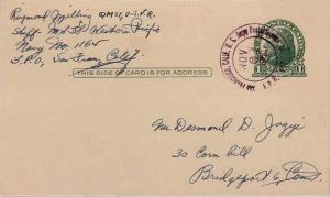 United States A.P.O.'s 1c Jefferson Postal Card 1950 San Francisco, Calif. U....