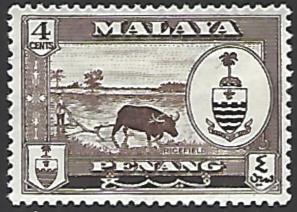 Malaya Penang #58 Mint Hinged Single Stamp