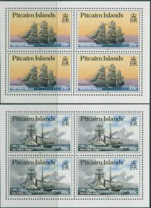 Pitcairn Islands 1990 SG369a-374a Ships booklet panes MNH