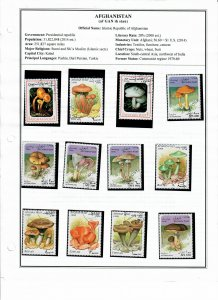 Afghanistan Lot of 70 Stamps Mostly CTO